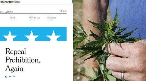 Legalisering, New York Times, USA, Kampanj, Marijuana