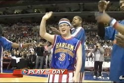 Downs syndrom,  Kevin Grow, Harlem Globetrotters, Poäng, basket,  Philadelphia 76ers