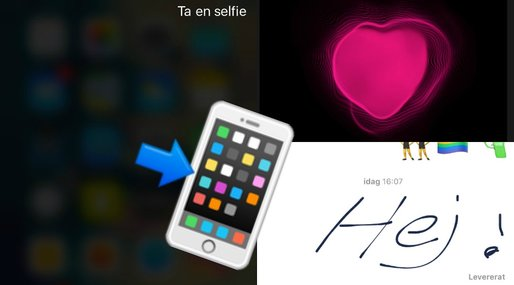 Selfie, Redigera bilder, Uppdatering, iMessage, iOS, Iphone, hemknapp, iphone7, Apple, IOS10,  Touch ID