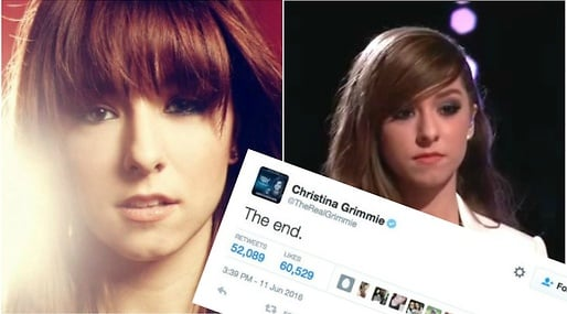 Sköt, Christina Grimmie, Twitter, Youtube