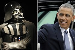 Darth Vader,  Jar Jar Binks, Politiker, Mätning, Barack Obama, Star Wars, USA