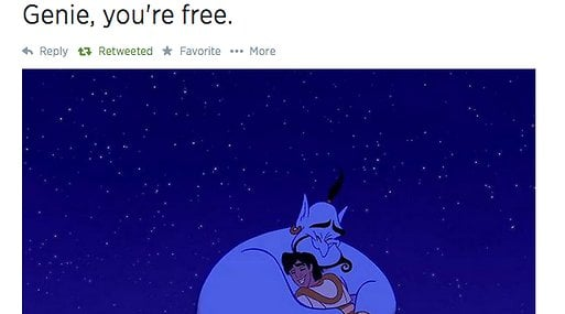 Anden, Disney, Twitter, Robin Williams, Död, Sörjer