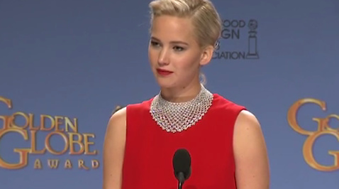Golden Globe, Jennifer Lawrence, Taskig