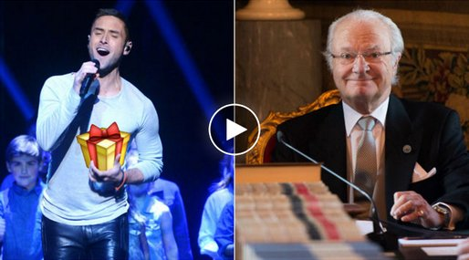 n24video, Måns Zelmerlöw, Kung Carl XVI Gustaf, Eurovision Song Contest