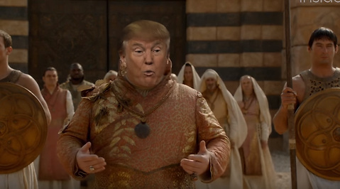 Donald Trump, Komedi, Sociala Medier, USA, Spridning, Internet, game of thrones, HBO, Humor, Youtube, President, Parodi