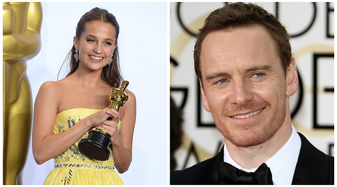 Hollywood, michael fassbender, Oscarsgalan, Alicia Vikander