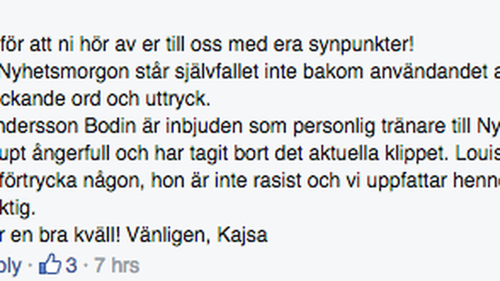 TV4 på Facbook