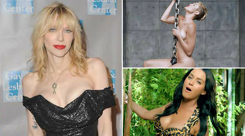 roar, Courtney Love, Miley Cyrus, Katy Perry