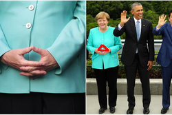 Tyskland, Angela Merkel, Trekant, power pose, Illuminati