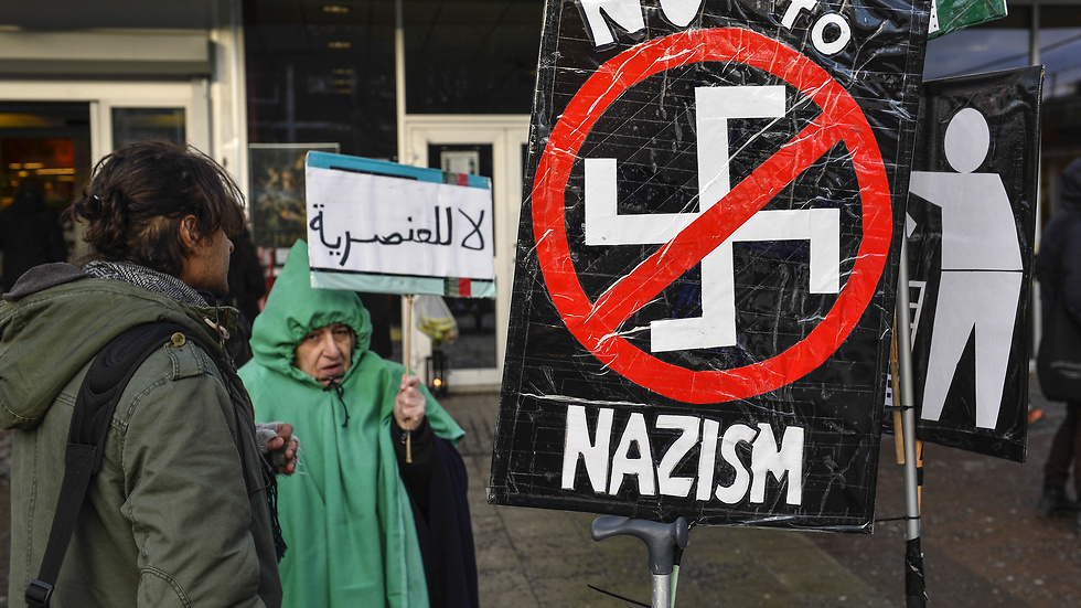Demonstration mot nazism.