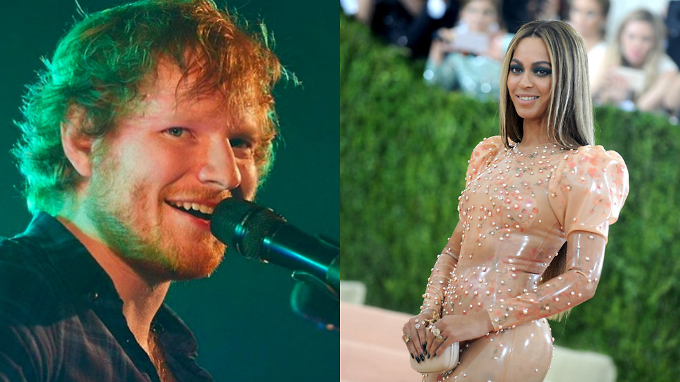 "Ed Sheeran och Beyoncé i duetten ""Perfect Duet"".."
