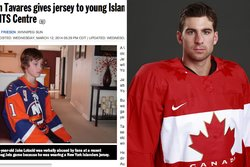 Sue Lotocki,  Jake Lotocki, John Tavares,  New York Jersey, Hockey