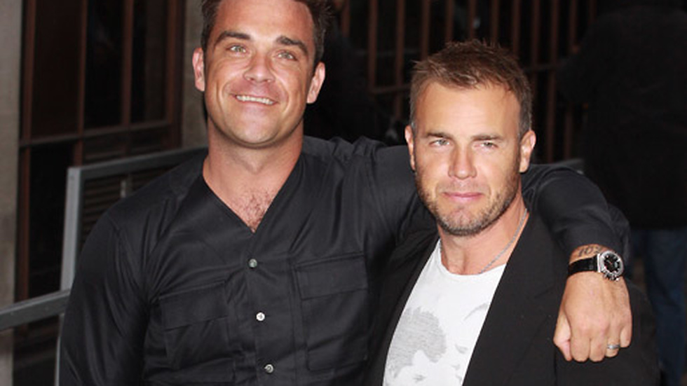Robbie Williams och Gary Barlow.