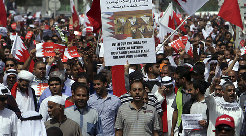 Demonstration, Protester, Demokrati, Bahrain, Uppror, Demonstranter