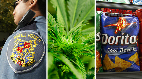 Seattle, Chips, Marijuana, Polisen