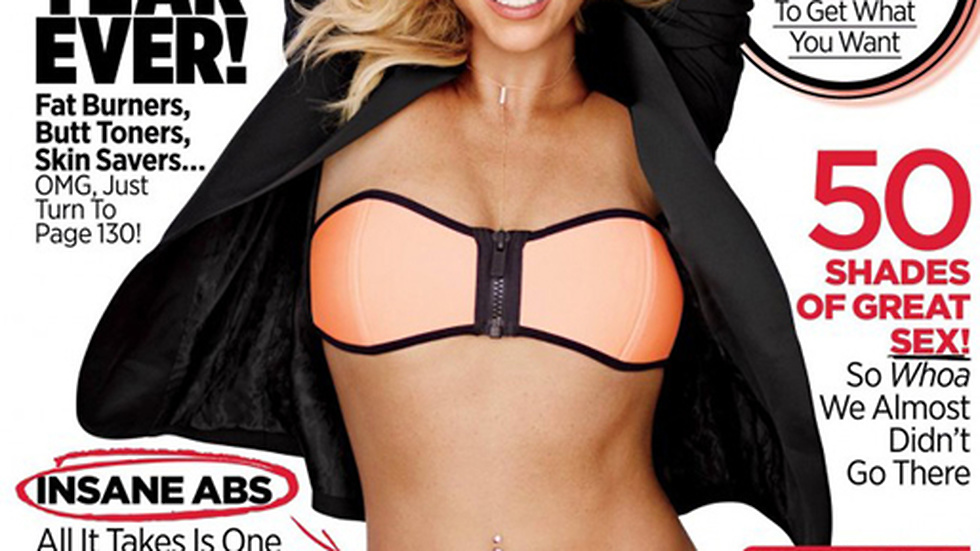 Britney Spears på omslaget till Womens Health.