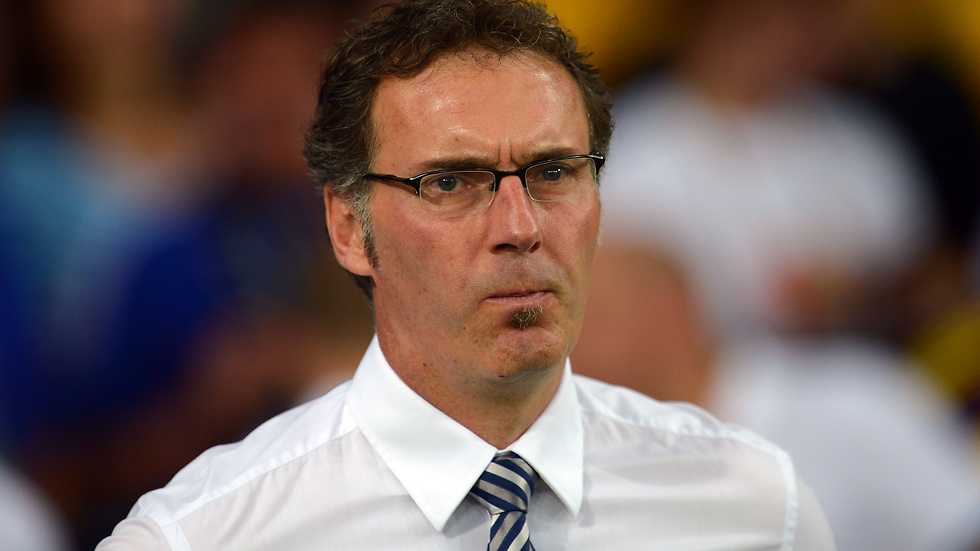 Laurent Blanc under matchen.