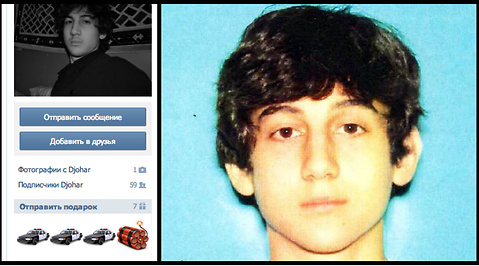 Dzjochar Tsarnajev, Facebook, Misstänkt, Watertown, Boston, Bomber