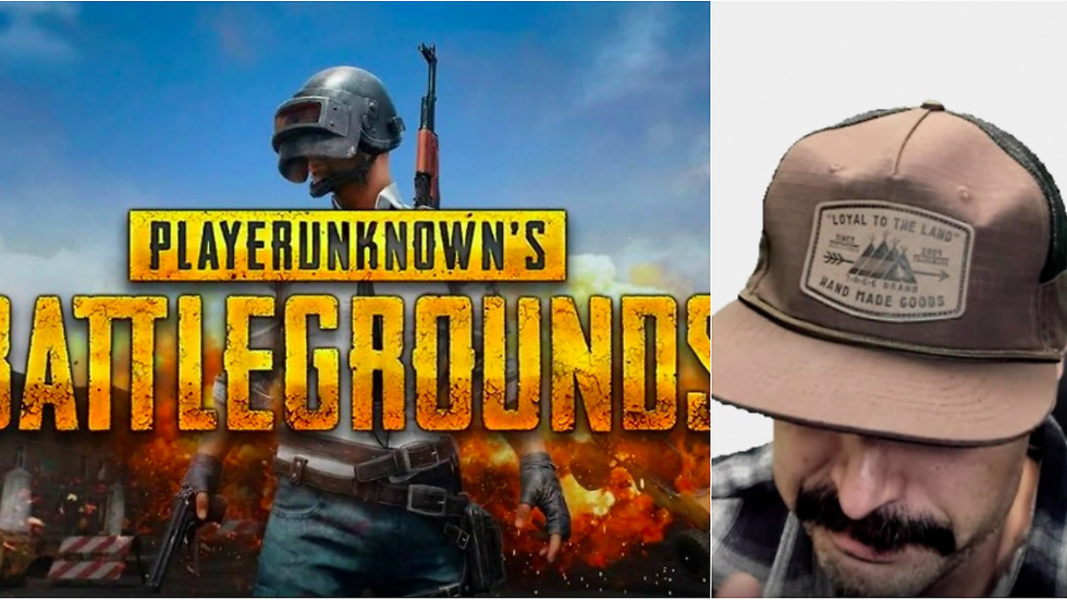 PlayerUnknown Battlegrounds logo och Dr Disrespect